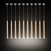 3W Led Aluminum Tube pendant light for dining room master room Restaurant led pendant Lamps conical hanging led ceiling fixture