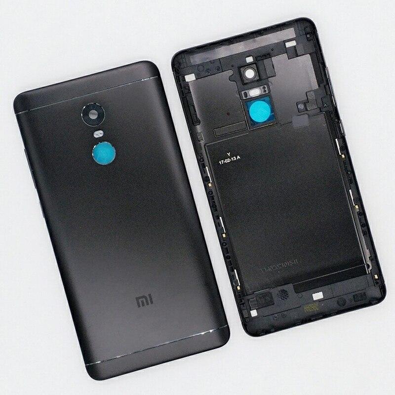 Novo Para Xiaomi Redmi Nota 4X64 GB Peças De Reposição Tampa Traseira Porta Da Bateria Habitação + Botões Laterais + flash da câmera Da Lente de Substituição