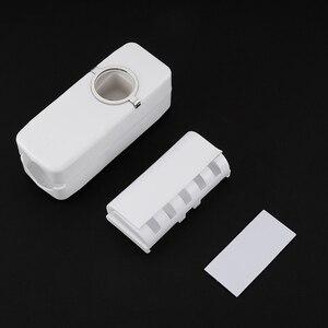 Image 3 - 浴室付属品セット歯ブラシホルダー自動歯磨き粉ディスペンサーホルダー歯ブラシウォールマウントラックバスルームサクションカップツールセット