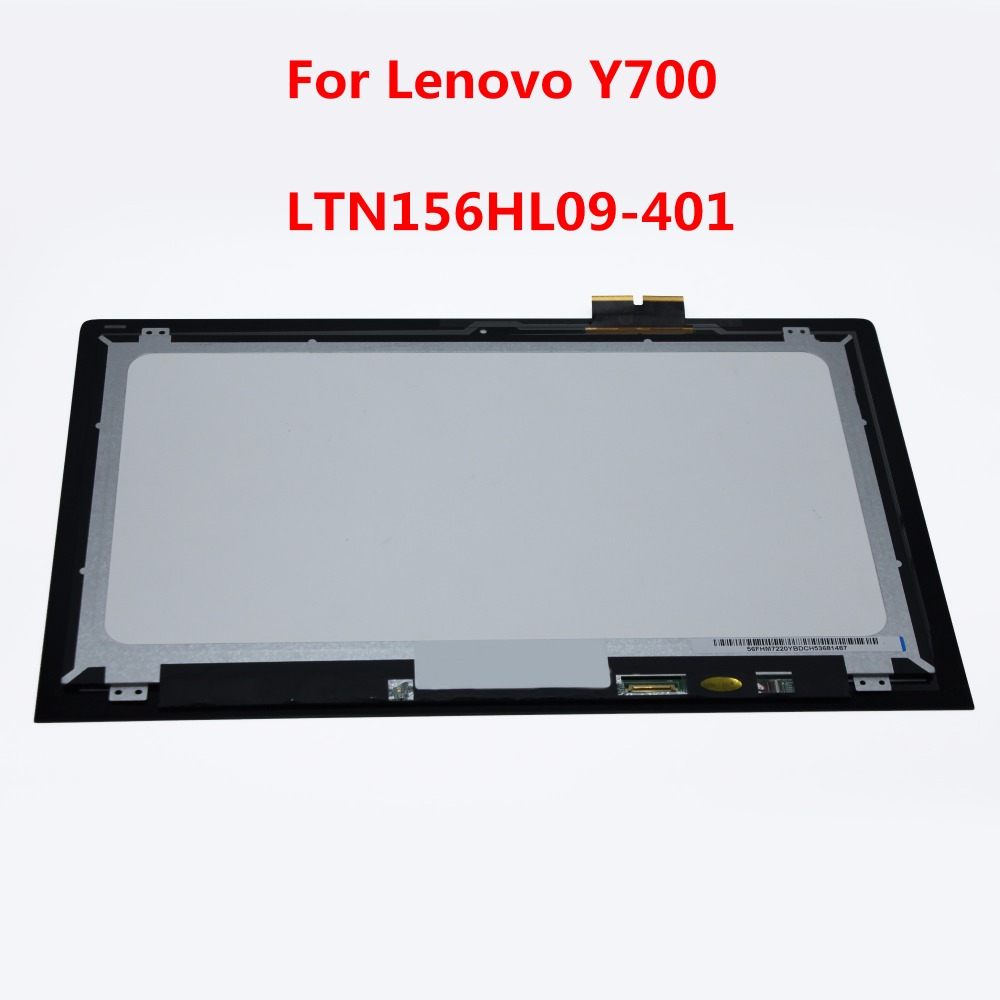 15.6Touch LCD Display Screen Assembly Replacement For Lenovo Ideapad Y700 15ISK 80NW NV156FHM-A12 LTN156HL09-401 Free Shipping replacement original touch screen lcd display assembly framefor huawei ascend p7 freeshipping
