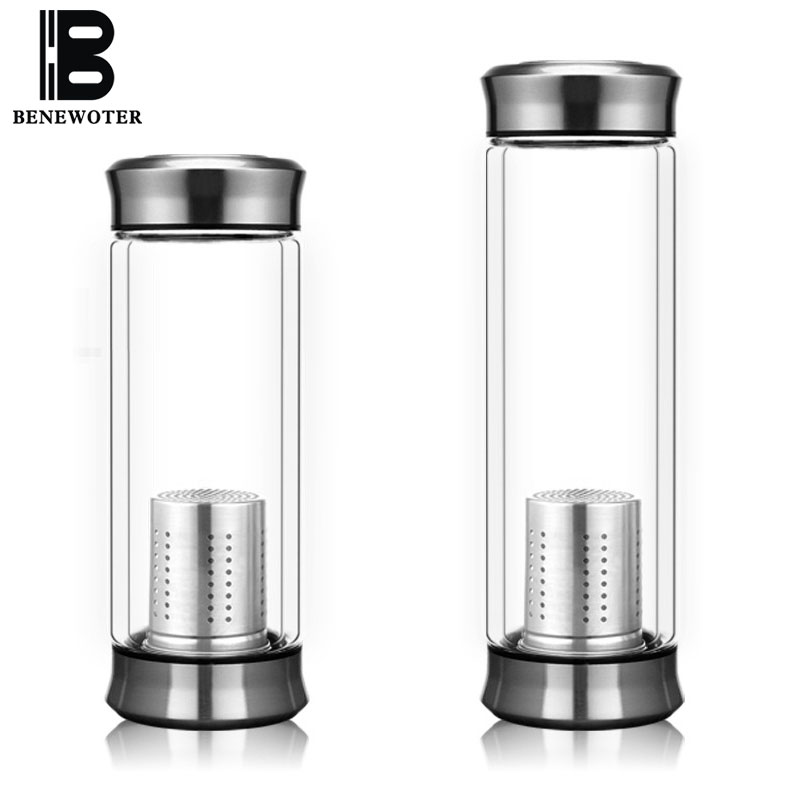 Brief 420ml Clear Water Bottle My Glass Bottle With