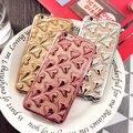 Casos de telefone para apple iphone 6 6 s case moda chapeamento coração 3d case para iphone 6 plus 5.5 6 s plus tpu macio bonito capa Fundas