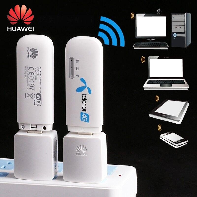 Unlocked Huawei E8372h-608 USB WiFi Wireless Modem 150Mbps 4G LTE FDD 700/850/1800/2100/2600MHz 3G USB Dongle Car Wifi Hotspot unlocked huawei e3372 e3372s 153 150mpbs 4g lte usb dongle 4g lte antenna 35dbi crc9 for e3372 4g lte fdd modem