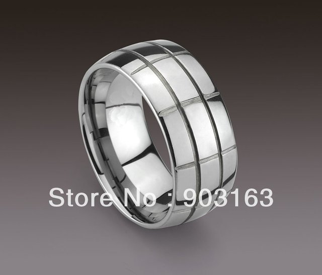1pcs Best selling New Arrival Guaranteed 100% 10MM Man's Tungsten Carbide Lump Wedding Band Ring By EMS shipping