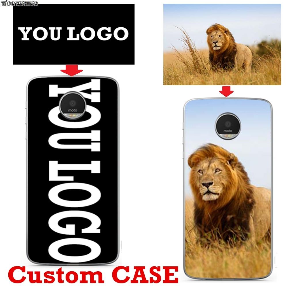 Personalized Custom Logo Name Photo Phone Case For MOTO G4 G5 G7 Power E4 C G5S