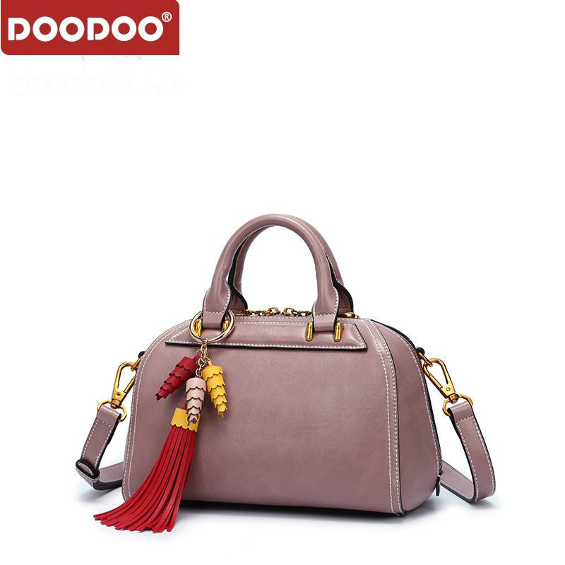DOODOO Luxury Handbags Women Bags Designer Tote Bag Female Shoulder Crossbody Bags Pu Leather Tassel Design 2018 Messenger Bags pu tassel design crossbody bag