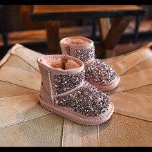 Hiver de fourrure de mode en caoutchouc bottes pour enfants rose glitter chaussures garçons pu en cuir en caoutchouc bottes bébé filles marque chaud en caoutchouc bottes