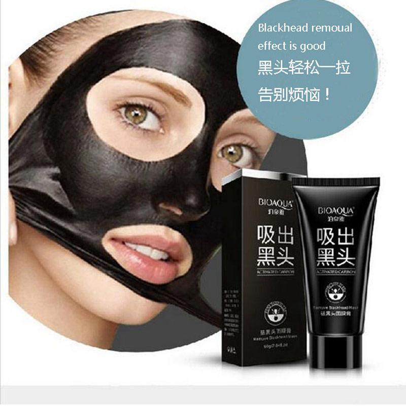 2017 נדל חם למכור Bioaqua טיפול פנים יניקה מסכה שחור פנים אפור Blackhead Remover פילינג לקלף את הראש אקנה טיפולים