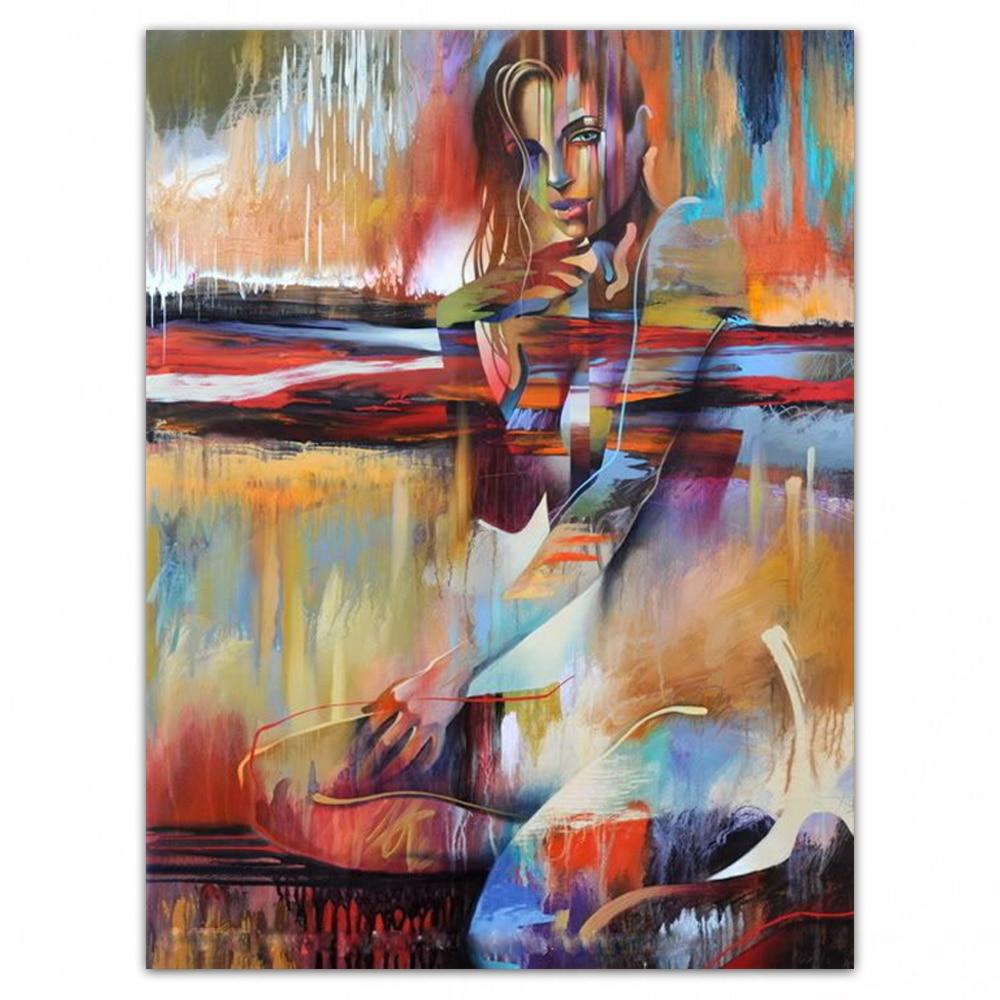 Dongmei pintura a óleo pintados à mão