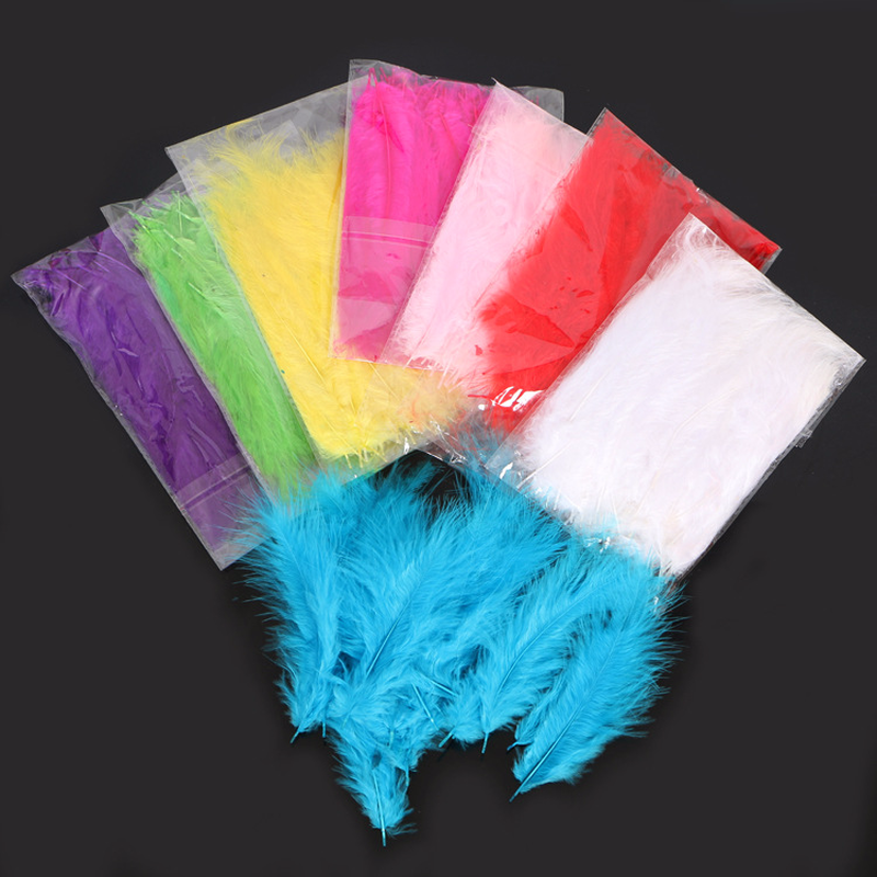 1pack DIY Transparent Balloon Filling Feathers Wedding Birthday Party Clear Bobo Decoration Feather Event Supplies
