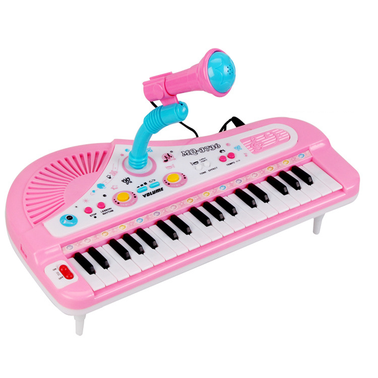 Kids 37 Keys Mini Simulation Electrical Keyboard Piano Toy with Microphone Musical Instrument Developmental Educational Toy