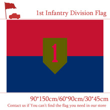 Free shipping 3x5 Feet U.S.A 1st 2nd 3rd Infantry Division Flag 30*45cm Car 90*150cm 60*90cm For Office