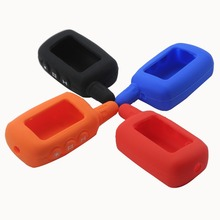 цена на 15p 3 Buttons Car-Styling Key Holder Case Cover Fob For Starline A9 A8 A6 Lcd Silicone Chain Russian Two Way Alarm