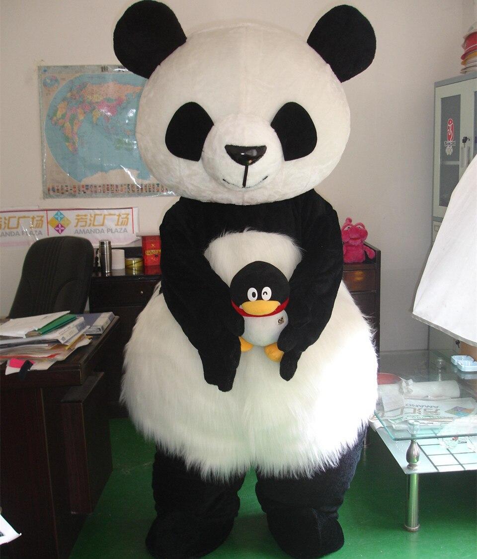 Costume de mascotte Panda géant chinois costume de mascotte ours polaire blanc costume de mascotte ours polaire pour adultes costume de carnaval
