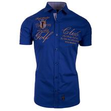 Plus Size S 3XL 2018 New Casual Men Print Turn down Collar Shirt Short Sleeve Slim