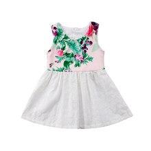 1a39971ab7bad 2018 nouvelle mode tendance enfants bébé filles fleur dos nu sans manches  parti Pageant robe robe d été vêtements doux belle été.