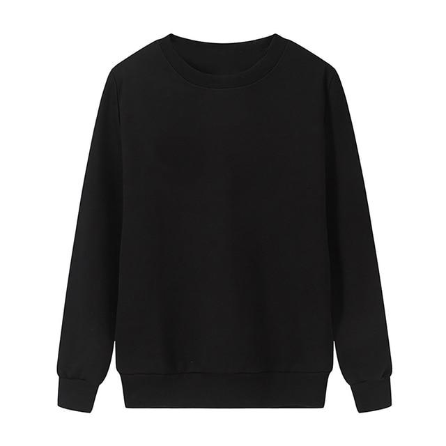Solid Color Sweatshirt Women Casual Hoodie Fashion Winter Autumn Lasdies Pullover Fleece Black White Blue Red Gray Streetwear 4