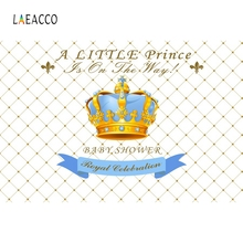 Laeacco Baby Birthday Portrait Blue Crystal Crown Prince Backdrop Photography Background Photographic Backdrops For Photo Studio