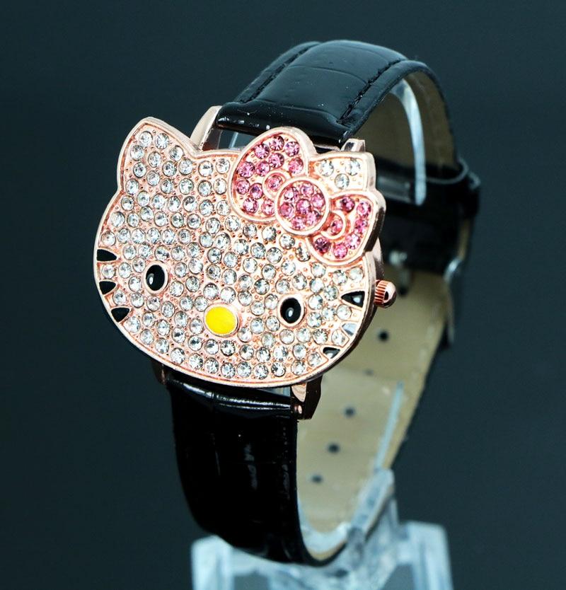 Hello Kitty Crystal Zegarki pasuje do Childlren Ladies Women Cartoon - Zegarki dziecięce - Zdjęcie 3
