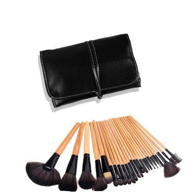 24 Unids Superiores Cosmético Profesional Del Maquillaje Suave Cepillo Conjunto Kit + Bolsa de la Caja de la Mujer Maquillaje Herramientas Pincel Maquiagem