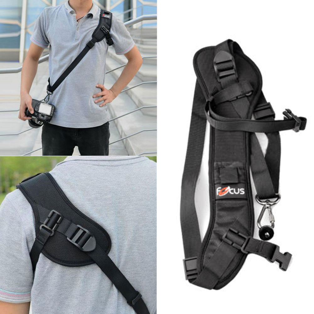 Sling-Belt Neck-Strap Camera Speed-Sling Focus DSLR Soft-Shoulder Quick-Carry Black High-Quality