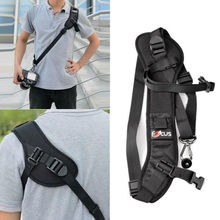 High Quality Focus F 1 Quick Carry Speed Sling soft Shoulder Sling Belt Neck Strap For Camera DSLR Black