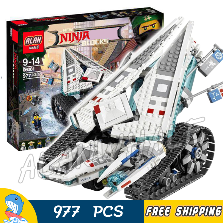 977pcs New Ninja Ice Tank Battle Machine Mech Walker Chariot 10726 Model Building Blocks Assemble Toy Brick Compatible With lego lepin 663pcs ninja killow vs samurai x mech oni chopper robots 06077 building blocks assemble toys bricks compatible with 70642