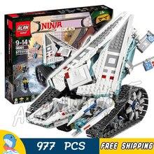 977 pcs Nova Máquina de Gelo Ninja Battle Tank Mech Walker Carro 10726 Modelo de Brinquedo de Montar Blocos de Construção Tijolo Compatível Com lego