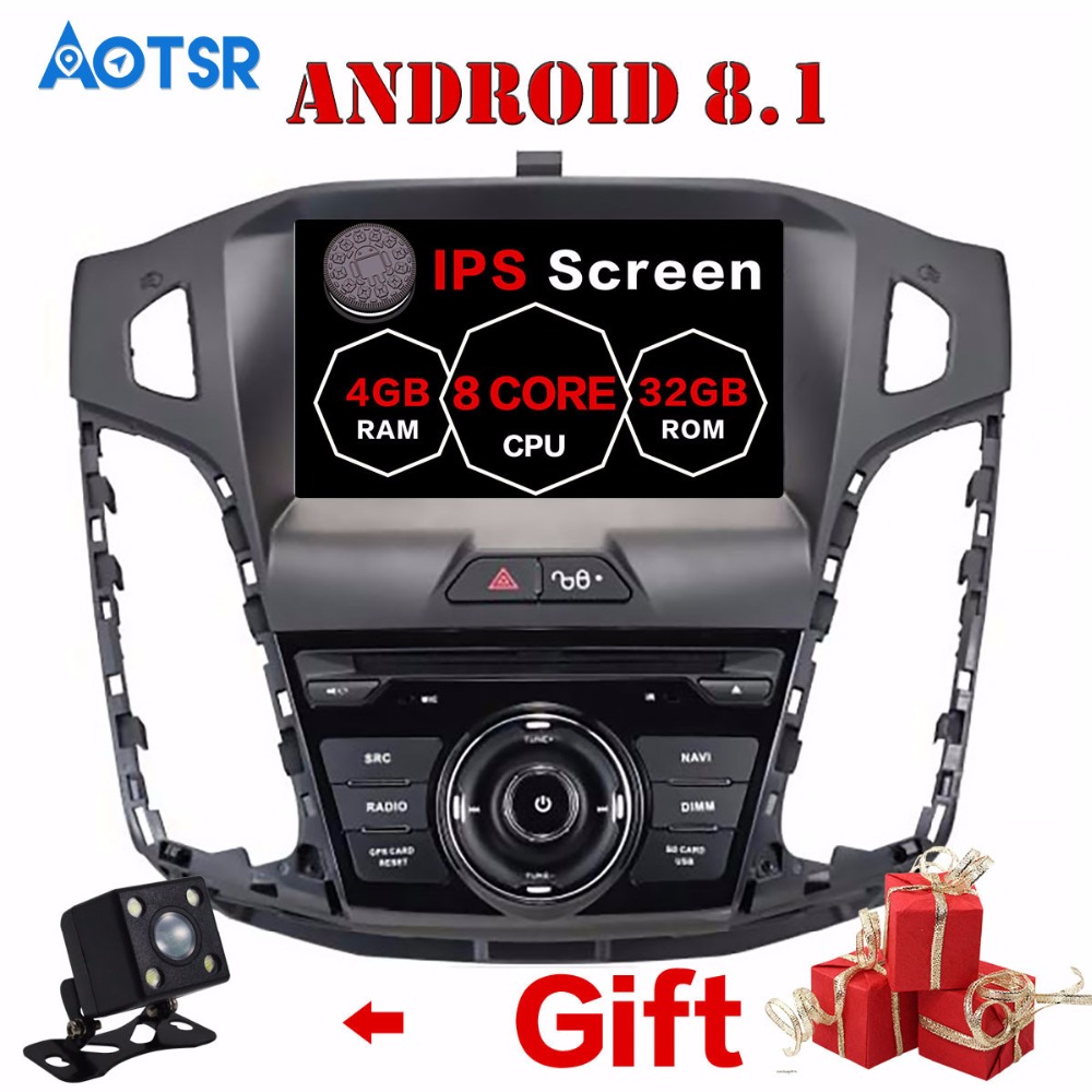 Android 8.1 Car GPS Navigation car DVD Player For Ford Focus 2012-2017 Head unit audio multimedia player radio tape recorder IPS