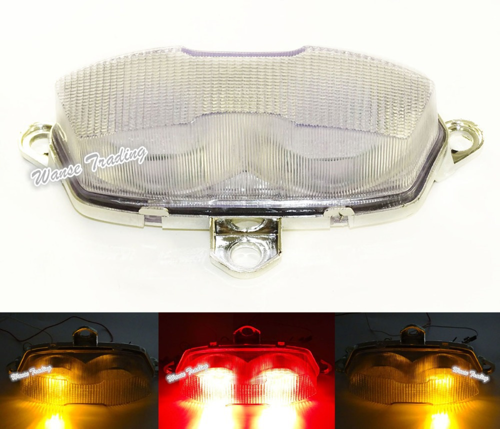 E-Marked Rear Taillight Tail Brake Turn Signals Integrated Led Light Clear For 1995 1996 1997 KAWASAKI Ninja ZX6R ZX-6R ZX600F e marked taillight tail brake turn signals integrated led light smoke for 1991 1992 1993 1994 1995 yamaha fzr1000 fzr 1000 exup