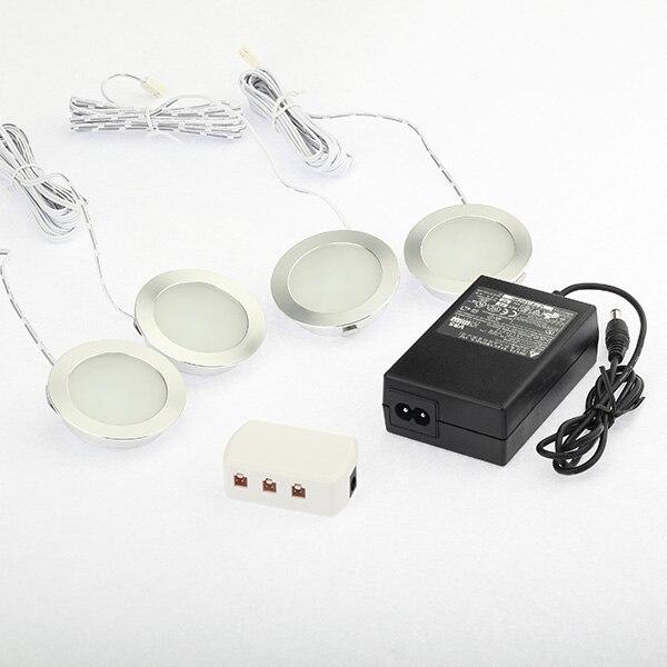 Ультратонкий Светодиодный светильник с утопленной шайбой, 110 220 В, 1,8 Вт, для дома, кухни, счетчик, задний светильник, светильник, 20 Вт, эквивал