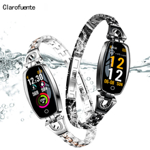 2019 Women Lady Smart Wristband Elegant Heart Rate Blood Pressure Smart Bracelet H8 Fitness Tracker Smart Watch Band Female Girl