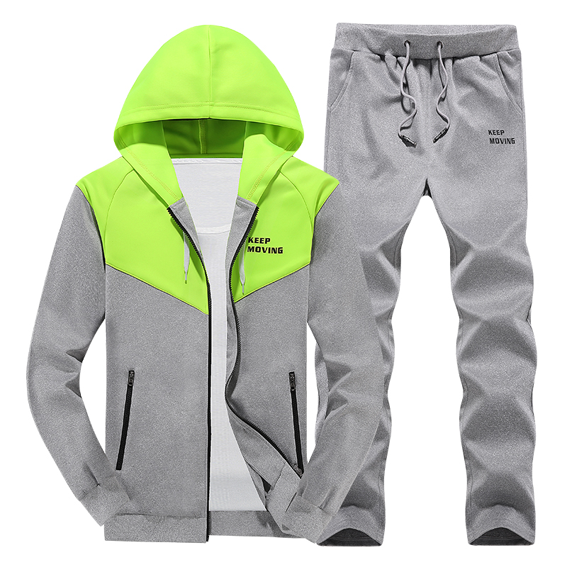 Home Lower Price with Casual Men Set Hoodie Tracksuit Mens Sportswear Sweat Suit Male 2 Piece Hooded Jacket Pants Sets Man Fitness Clothing 2019