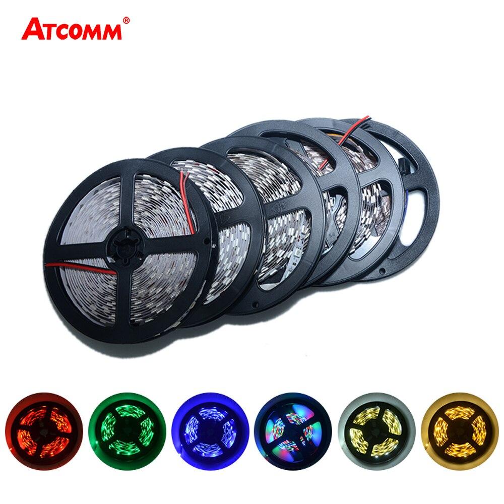 Купить на aliexpress 5 M 3528 RGB Светодиодные ленты Light 300 светодиодный s DC 12 V красный зеленый синий теплый белый, холодный белый гибкие SMD 3528 Светодиодный диода Свето...