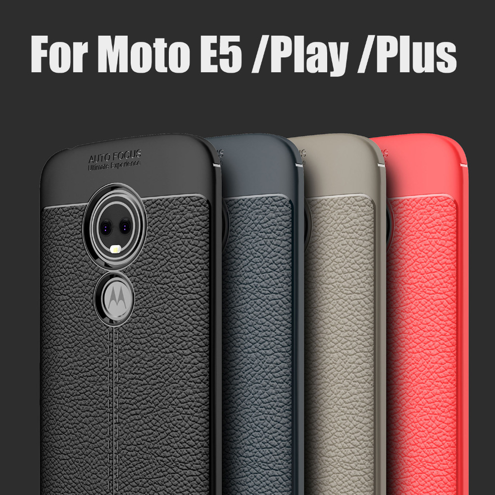 For Motorola Moto E5 Play Plus Smart Phone Case Shockproof Luxury Soft Silicone Rubber Cover for Moto e5+ e 5 play go back case