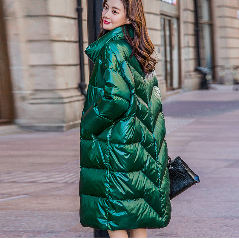 2019 Winter Long   Coat   Female Warm Parka Fashion Women's   Down   Jacket Warm Winter Jacket Women   Coats   PP046