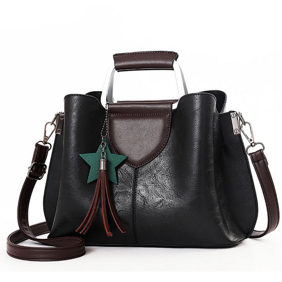 2017 Luxury Brand women handbags designer patchwork tassel ladies