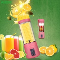 Portable Juicer Juice Extractor Portable Rechargeable Battery USB Charging Juicer Cup Power With Travel Lid