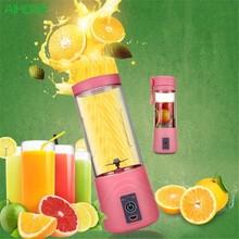 Portable USB Electric Fruit Citrus Juicer Bottle Handheld Milkshake Smoothie Maker Rechargeable