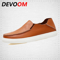 Men Genuine Leather Shoes Casual 2017 Summer Shoes For Man New Fashion Designer Shoes Breathable Big