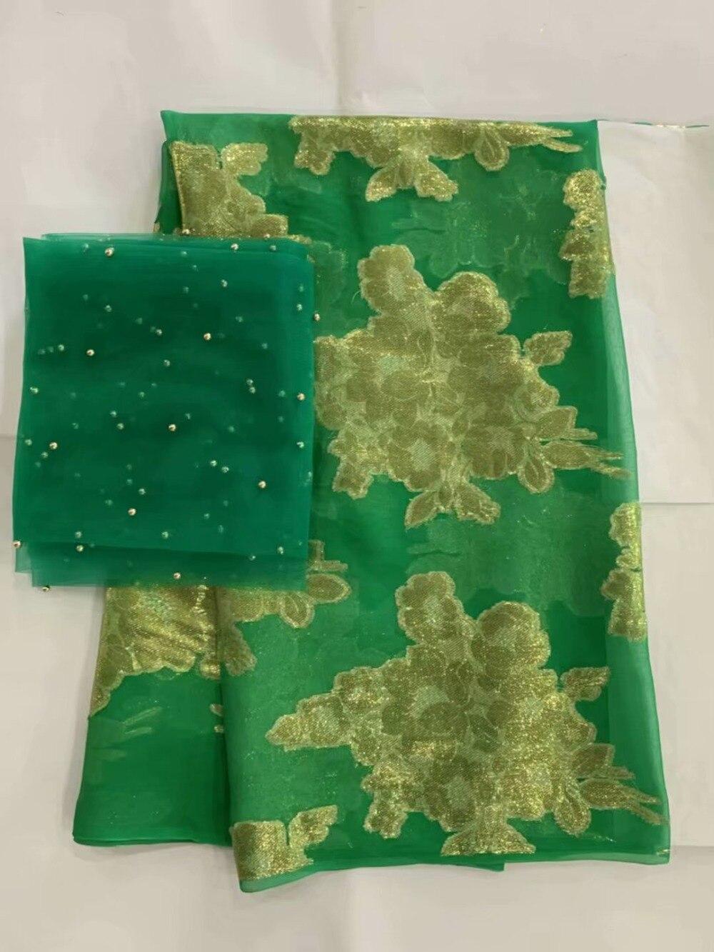 Złota nigeryjczyk koronki tkaniny wysokiej jakości tkaniny jedwabne 2019 satynowa sukienka materiał francuski koronki tkaniny tissu dentelle7yard/dużo L100  w Dekorowanie tkanin od Dom i ogród na  Grupa 2