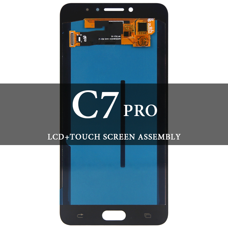 For Samsung C7 Pro C7010 LCD Dispaly Super AMOLED LCD With Touch Screen Assembly For Samsung C7 Pro C7010 Screen ReplacementFor Samsung C7 Pro C7010 LCD Dispaly Super AMOLED LCD With Touch Screen Assembly For Samsung C7 Pro C7010 Screen Replacement