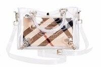 Luxury Designer Inspired Flap Bag Motorcycle Bag PVC Transparent Branded Women Shoulder bag