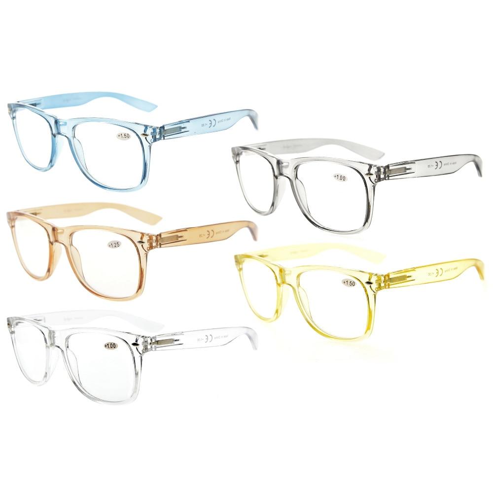 R133Mix Paquete de 5 cómodas bisagras de muelle Amplias gafas de - Accesorios para la ropa