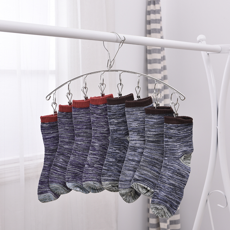 8 Clips camber Stainless Clothes Drying Rack Socks Underwear Drying Hanger Multifunctional drying shelf