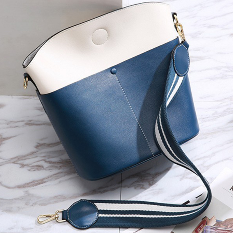 где купить women genuine leather bucket bag high quality leather handbags soft calfskin crossbody bags ladies messenger bags bolsa feminina по лучшей цене
