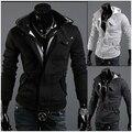 Moda masculina casual de estilo roupas homens jaqueta casaco Cardigan 3 cores M-XXXL