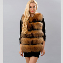 TOPFUR Luxury Real Fur Vest For Women Winter & Autumn Natural Raccoon Jacket Fashion New Thick Coat Solid Plus Size