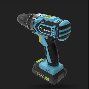 Image 2 - Youpin Tonfon Wireless Electric Cordless Drill Impact Power Driver 12/20V 2000mAh Battery 2 Speed EU Adapter For Home Work