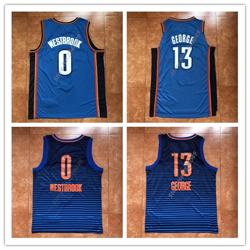 ff75e34f938f New Mens  13 Paul George  0 Russell Westbrook Throwback Basketball Jersey  US Size S-XXL Stitched Best Quality